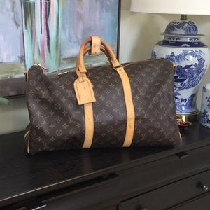 🍒auth Louis Vuitton 2001 keepall bandouliere